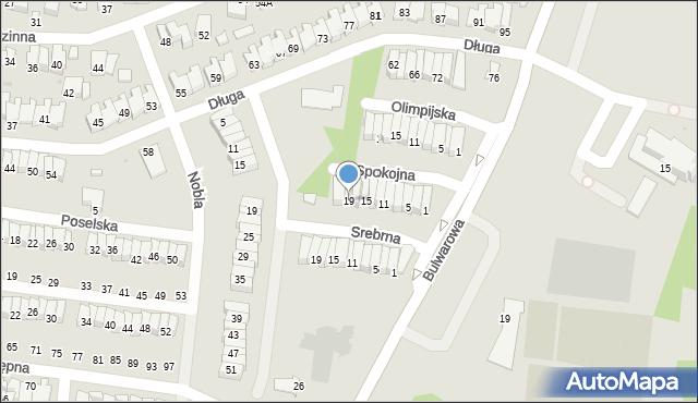 Radom, Spokojna, 19, mapa Radomia