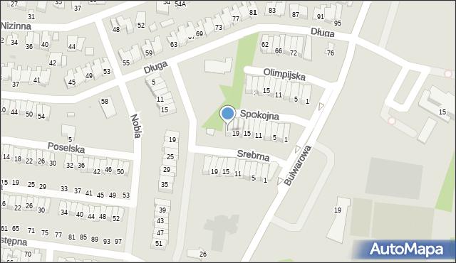 Radom, Spokojna, 21, mapa Radomia