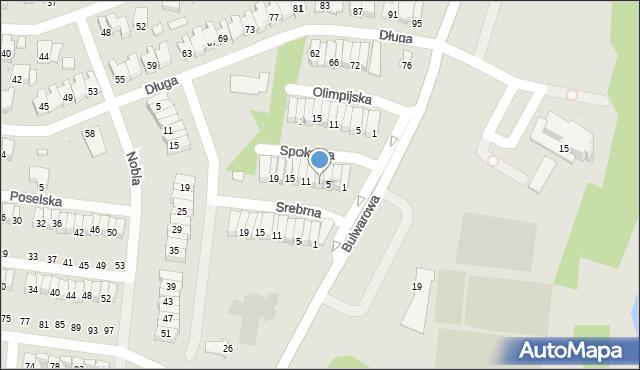 Radom, Spokojna, 7, mapa Radomia
