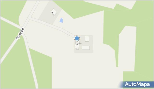 Robakowo, Spokojna, 6, mapa Robakowo