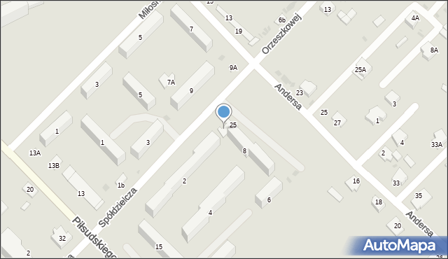 Sokołów Podlaski, Spółdzielcza, 8A, mapa Sokołów Podlaski