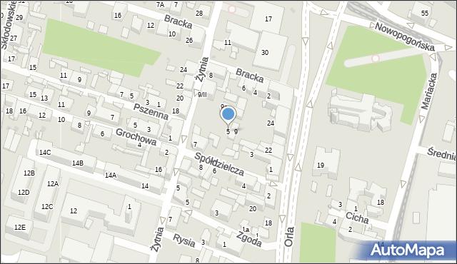 Sosnowiec, Spółdzielcza, 5, mapa Sosnowca