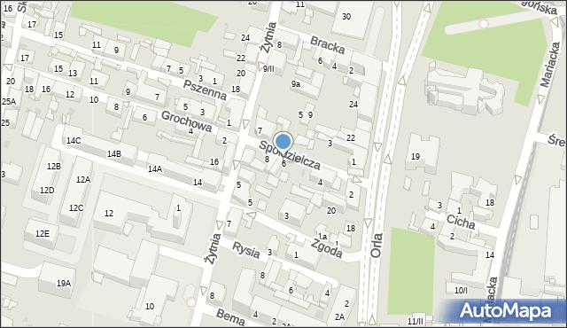 Sosnowiec, Spółdzielcza, 6, mapa Sosnowca