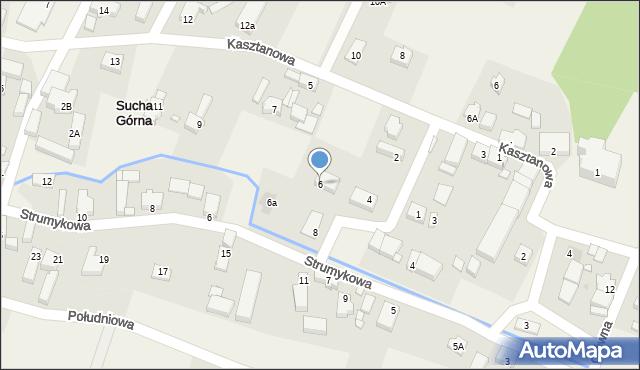 Sucha Górna, Spadzista, 6, mapa Sucha Górna