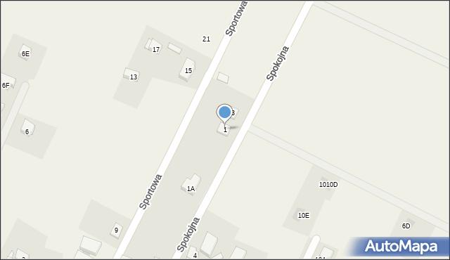 Sucha Górna, Spokojna, 1, mapa Sucha Górna