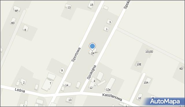Sucha Górna, Spokojna, 1A, mapa Sucha Górna