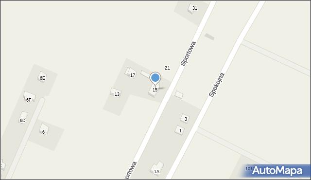 Sucha Górna, Sportowa, 15, mapa Sucha Górna