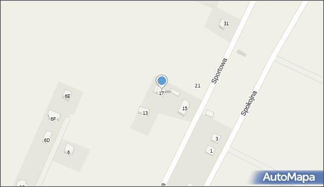 Sucha Górna, Sportowa, 17, mapa Sucha Górna