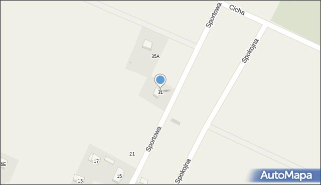 Sucha Górna, Sportowa, 31, mapa Sucha Górna