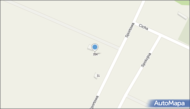 Sucha Górna, Sportowa, 35A, mapa Sucha Górna