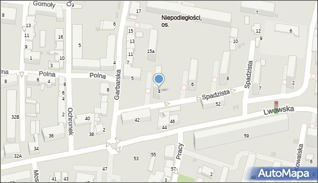 Tarnów, Spadzista, 4, mapa Tarnów