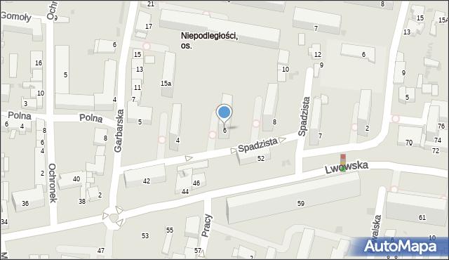 Tarnów, Spadzista, 6, mapa Tarnów