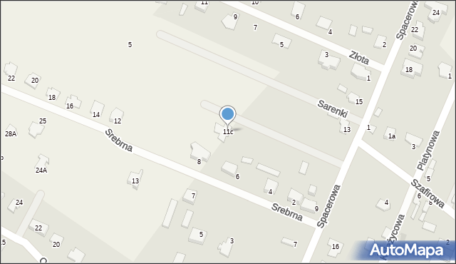 Wacyn, Spacerowa, 11c, mapa Wacyn