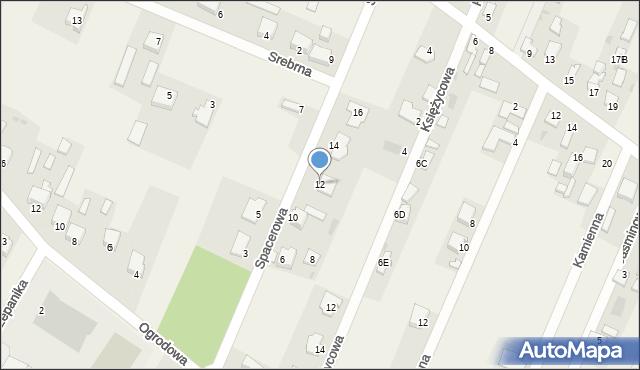 Wacyn, Spacerowa, 12, mapa Wacyn
