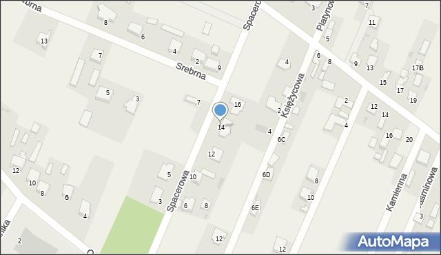 Wacyn, Spacerowa, 14, mapa Wacyn