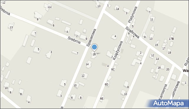 Wacyn, Spacerowa, 16, mapa Wacyn