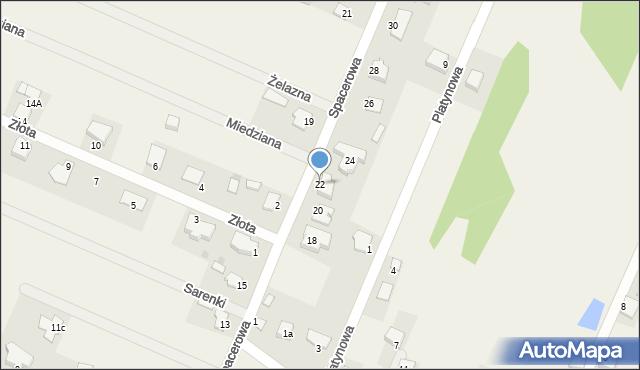 Wacyn, Spacerowa, 22, mapa Wacyn