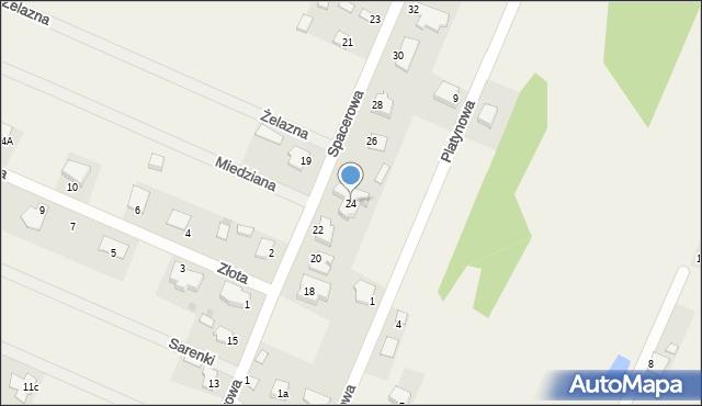 Wacyn, Spacerowa, 24, mapa Wacyn