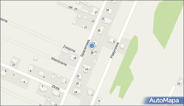 Wacyn, Spacerowa, 26, mapa Wacyn