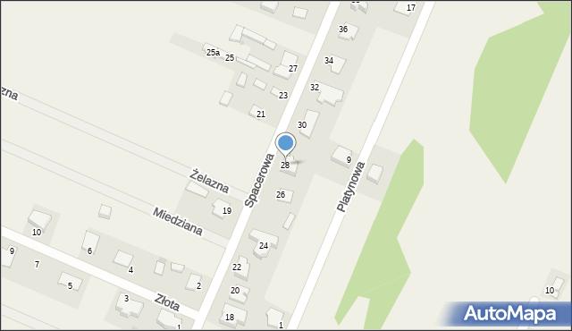 Wacyn, Spacerowa, 28, mapa Wacyn