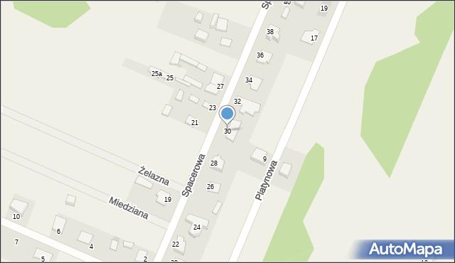 Wacyn, Spacerowa, 30, mapa Wacyn