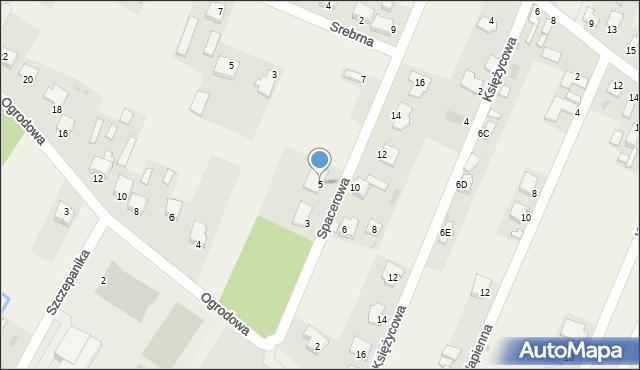 Wacyn, Spacerowa, 5, mapa Wacyn