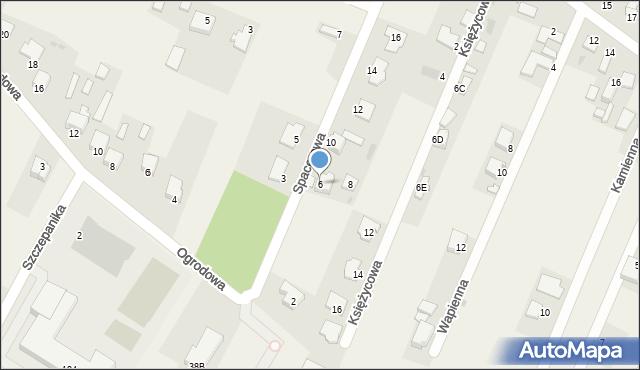 Wacyn, Spacerowa, 6, mapa Wacyn