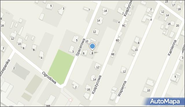 Wacyn, Spacerowa, 8, mapa Wacyn