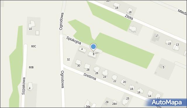 Wacyn, Spokojna, 6, mapa Wacyn