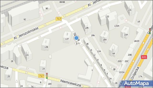 Warszawa, Spiska, 3, mapa Warszawy