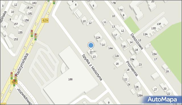 Warszawa, Spytka z Melsztyna, 12, mapa Warszawy