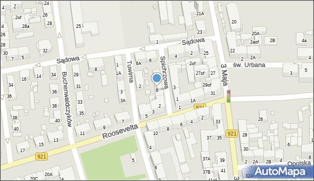 Zabrze, Spichrzowa, 6, mapa Zabrza