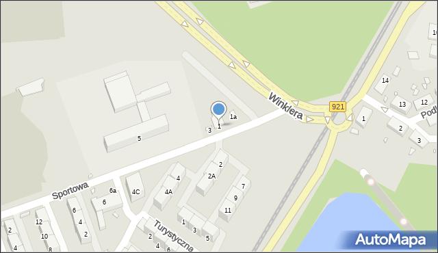 Zabrze, Sportowa, 1, mapa Zabrza