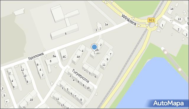 Zabrze, Sportowa, 2B, mapa Zabrza