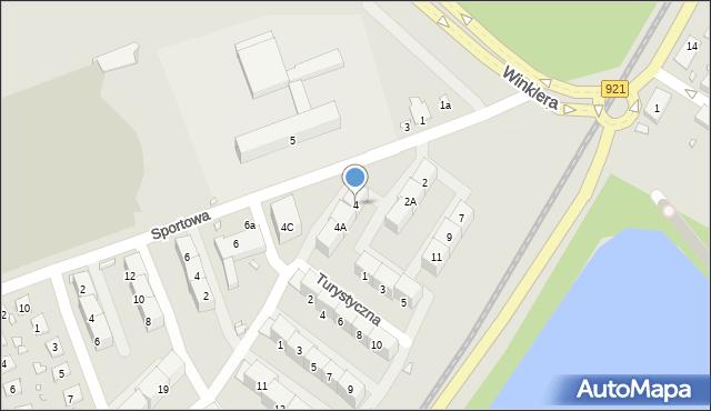 Zabrze, Sportowa, 4, mapa Zabrza