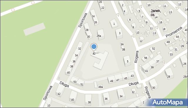 Zabrze, Sportowa, 42, mapa Zabrza