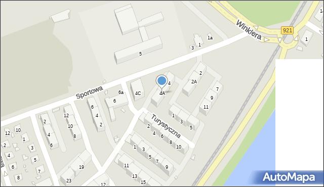 Zabrze, Sportowa, 4A, mapa Zabrza