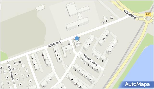 Zabrze, Sportowa, 4C, mapa Zabrza