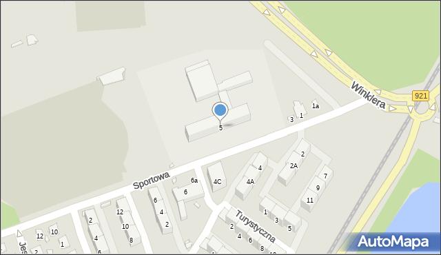 Zabrze, Sportowa, 5, mapa Zabrza