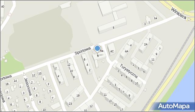 Zabrze, Sportowa, 6, mapa Zabrza
