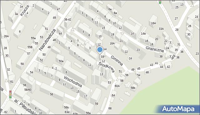 Lublin, Środkowa, 10, mapa Lublina
