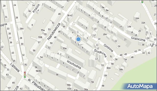 Lublin, Środkowa, 7, mapa Lublina