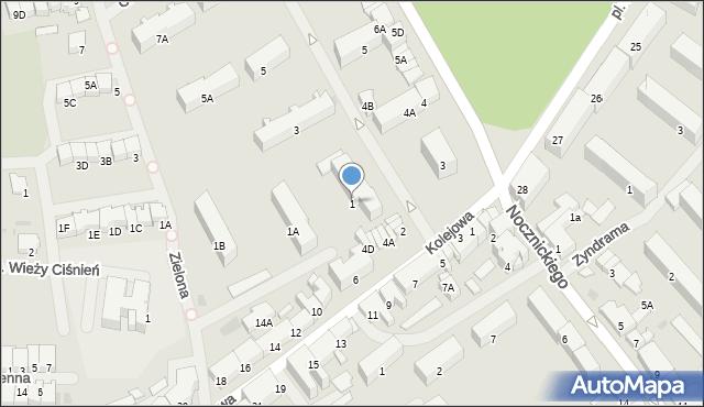 Olecko, Środkowa, 1, mapa Olecko