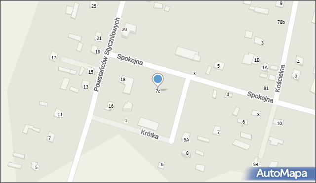 Srebrzyszcze, Srebrzyszcze, 7b, mapa Srebrzyszcze