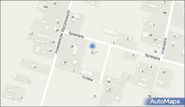 Srebrzyszcze, Srebrzyszcze, 7c, mapa Srebrzyszcze