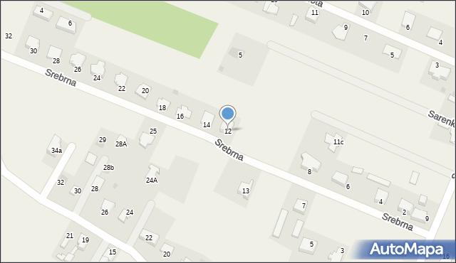 Wacyn, Srebrna, 12, mapa Wacyn