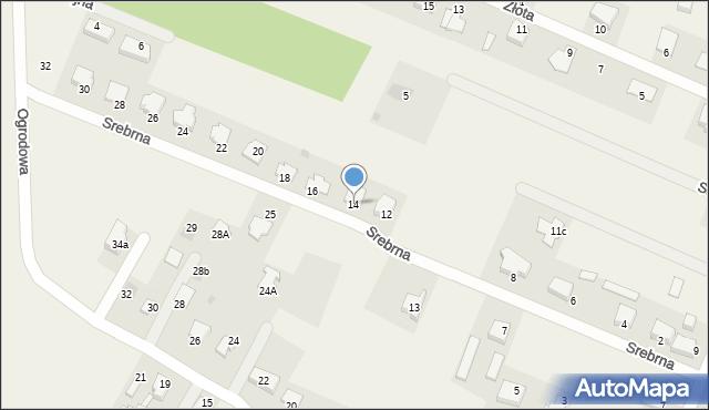 Wacyn, Srebrna, 14, mapa Wacyn
