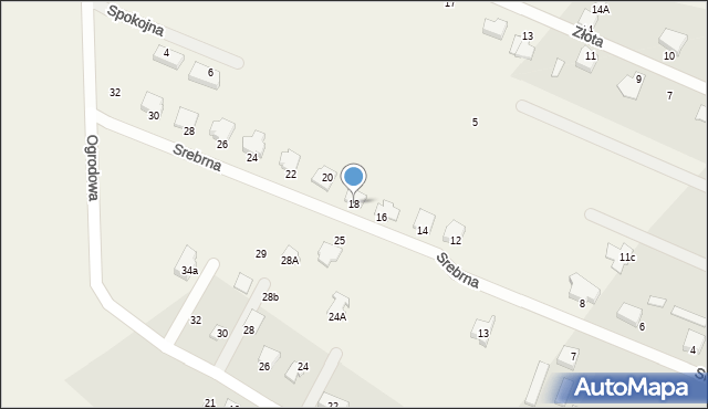 Wacyn, Srebrna, 18, mapa Wacyn