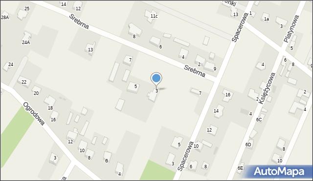 Wacyn, Srebrna, 3, mapa Wacyn