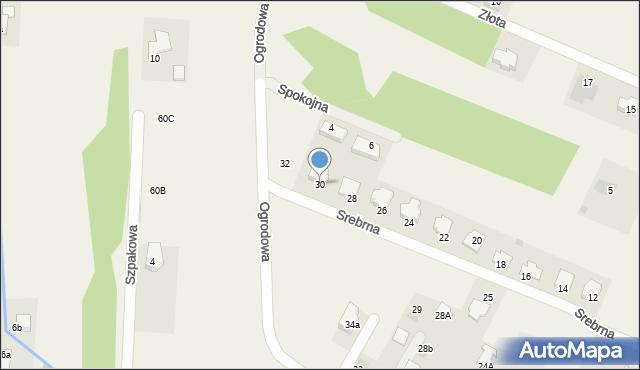 Wacyn, Srebrna, 30, mapa Wacyn